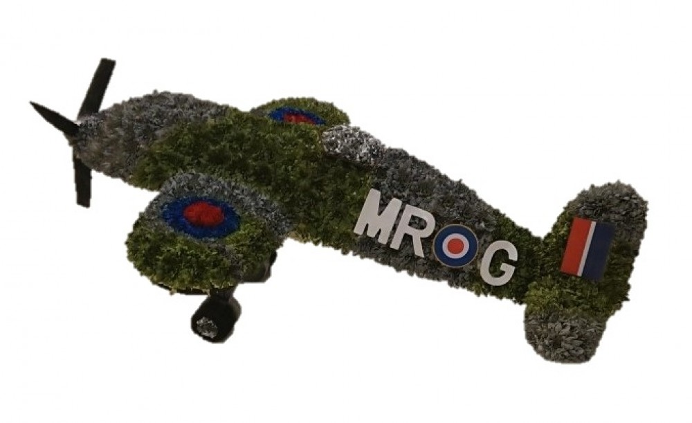 Spitfire funeral tribute