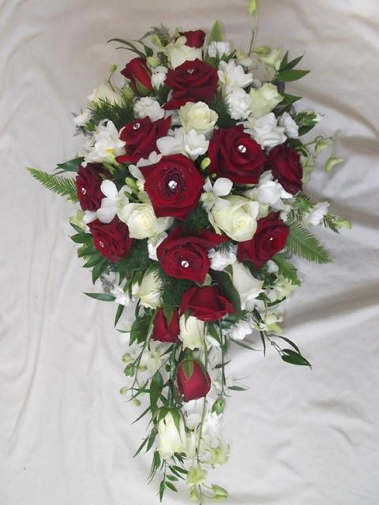 Rose & Orchid Shower Bridal Bouquet