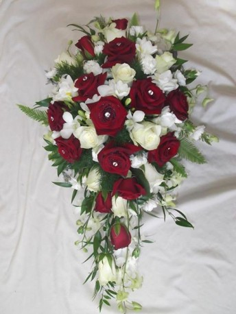 Rose and Orchid Shower Bridal bouquet