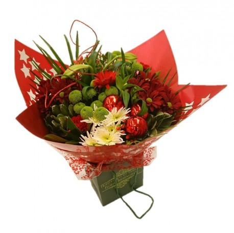 Christmas Red Hand-Tied