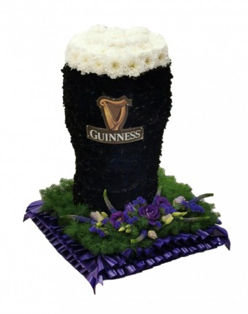 Guinness pint funeral tribute