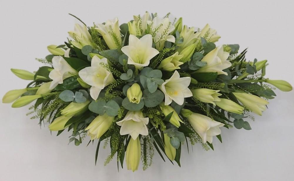 Longiflorum white lily spray