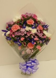 Funeral Flowers in Cellophane