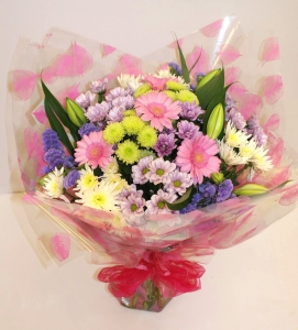 Hand Tied Bouquet - Pink