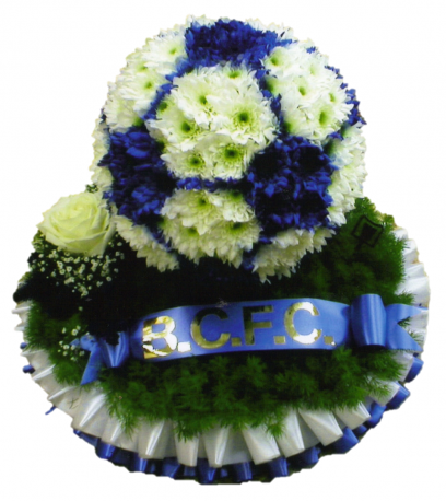 Football funeral tribute 3D