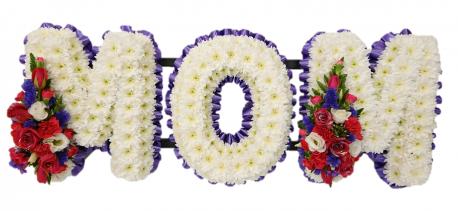 Mom Funeral Tribute (Purples & cerise)