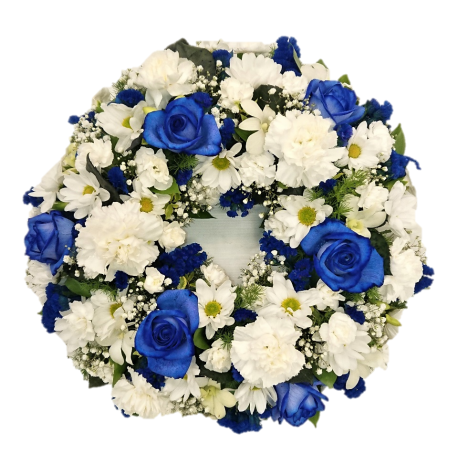 Wreath - Blue and white
